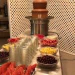 Fontaine de chocolat au brunch de la fête des mères