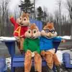 Mascottes du films Alvin et les chipmunks